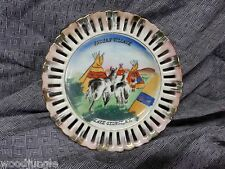 Vintage INDIAN VILLAGE HAND PAINTED SOUVENIR PLATE  LAKE GEORGE NEW YORK