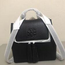 NWT TORY BURCH 73134 Thea Black Mini Pebbled Leather Tassel Backpack MSRP $450