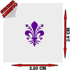 Sticker Adesivo Giglio Firenze per Targa Auto Moto Scooter Fiorentina Viola