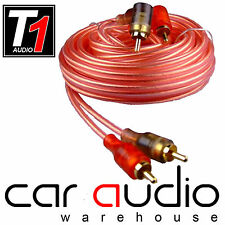 5M OFC RCA to RCA Cable Car Lead 5 Metre Oxygen Free Clear Car Stereo Amp Phono