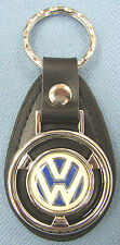 Vintage VW Volkswagon Mini Steering Wheel Leather Keyring Key Fob Key Holder