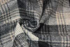 Black and Cream Plaid Wool Jacketing/Coating from Clothing Company Woolrich
