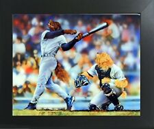 Funny Dog Playing Baseball Kids Room Animal Wall Decor Art Print Framed Picture
