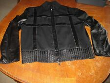 VALENTINO ROMA Lambskin Leather Lamb Black Bomber Jacket Coat Lined Sz 56 US 46
