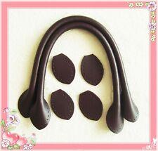 40cm hochwertige Taschengriffe Echtleder Verbindungsstück Gegenstück dunkelbraun