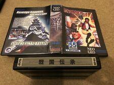 NEO GEO Sengoku 1 MVS cartridge with shockbox and inlay