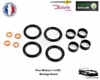 Kit Joint 4 Injecteurs pour Peugeot 206 1.4 HDi - Montage Bosch - NEUF