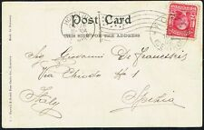 3375 US TO ITALY POSTCARD 1908 HONOLULU, HI - ROMA