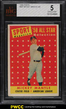 1958 Topps Mickey Mantle ALL-STAR #487 BVG 5 EX (PWCC)