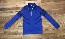 IVIVVA GO AND GLOW BLUE PULLOVER TOP SHIRT QUARTER ZIP SZ 14