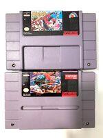 Street Fighter II 2 & Spider-Man X-Men Arcade Revenge SNES Super Nintendo Games