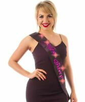 HEN PARTY Black & Hot Pink Flashing Sash Girls Night Out bride to be Accessory