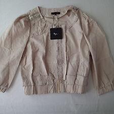 ryu Ladies Jacket, COAT TOP SZ s,lightweight beige 3/4 sleeve 1