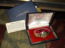 """Hamilton 1957 10K. Stainless Back Rotomatic I  """"In Original Double Boxes... L@@K"""