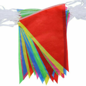 33 Feet 20 Flags Multi Colour Banner Bunting Party Home Garden Decoration Banner