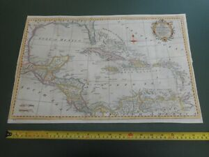 100% ORIGINAL GULF OF MEXICO FLORIDA  MAP BY T KITCHIN C1795 VGC HAND COLOURED