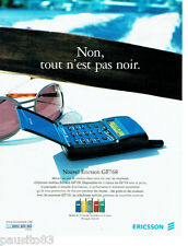 PUBLICITE ADVERTISING 026  1997  Ericsson  GF 768  téléphone mobile