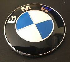 2 X BMW Bonnet / Boot Badge Emblem 82mm HIGH QUALITY E30 E36 E46 3 5 7 UK SELLER