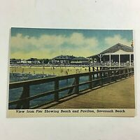 VINTAGE 1930s Mini Photographs Souvenir Pictures Savannah GA Beach Pier View