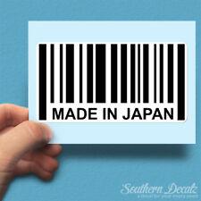 "Made In Japan Barcode JDM - Vinyl Decal Sticker - c68 - 7"" x 3.75"""