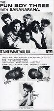 CD Single Bananarama - Fun Boy IT AIN'T WHAT YOU DO IT'S THE WAY THAT YOU DO IT