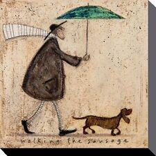 SAM TOFT (WALKING THE SAUSAGE)  Canvas  Print 40 X 40cm