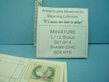 Miniature Shabby Chic Box Kits Set of (4) Looking Glass Minis - 1/12th Scale