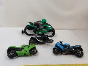 Lot of 4 Toy Motorcycles Plastic Mixed ~ Ships FREE