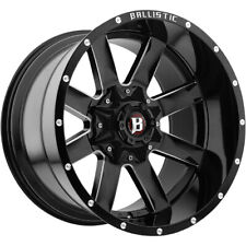 4 - 20x10 Black Wheel Ballistic Rage (959) 6x135 6x5.5 -19