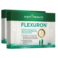 Flexuron Joint Formula by Purity Products 2X30gels  Astaxanthin/Hyaluronic Acid