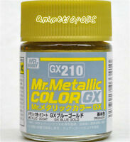 MR HOBBY Color Gunze LACQUER GX210 Metallic Blue Gold MODEL KIT PAINT 18ml