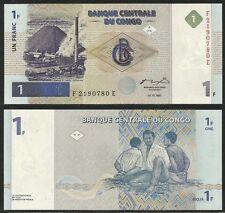 CONGO DEMOCRATIC REPUBLIC - 1 Franc 1997 UNC  Pick 85a
