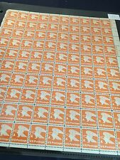 """U S P S MINT SHEET """" A """" 1978  OVER-SIZED SHEET 100 STAMPS"""