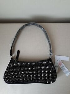 TOPSHOP SMALL BLACK CRYSTAL SHOULDER BAG BRAND NEW WITH TAGS
