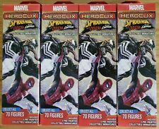 Marvel Heroclix Spider-Man Venom ABSOLUTE CARNAGE Booster x4