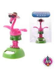 SOLAR POWERED FLIP FLAP DANCING FLAMINGO WITH GLASSES TOY GREAT GIFT IDEA
