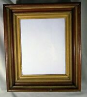 Antique Gold Deep Picture Frame Eastlake Walnut Victorian Shadow Box w/ Glass