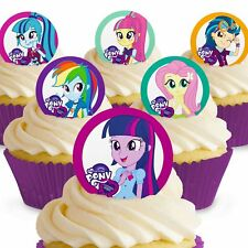Cakeshop 12 x PRE-CUT My Little Pony Equestria Girls Edible Cake Toppers