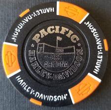 PACIFIC HD~Hawaii ~ USS ARIZONA (Black/Orange) Harley Davidson Poker Chip
