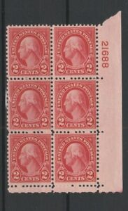 FRANCOBOLLI - 1922 USA PRESIDENTE C.2 WASHINGTON BLOCCO 6 VALORI MNH E/4092