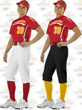 Alleson Womens Knicker Length Fastpitch Softball Pants 605PKNW White or Black