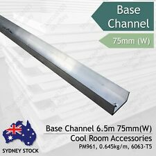Base Channel 75mm (W), 6.5m (L), Coolroom Accessories Sydney Lidcombe