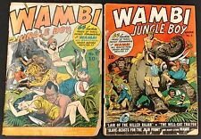 WAMBI THE JUNGLE BOY 1942 #1 TO 18 COMP. GOLDEN AGE SET! KIEFER,WHITMAN,BLUM