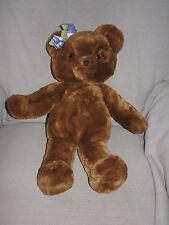 """1984 Dakin Bonnie Beth 21"""" Teddy Bear Stuffed Plush Toy Animal Chocolate Brown"""