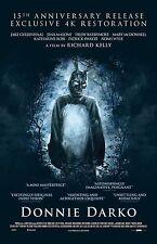 Donnie Darko movie poster  : 11 x 17 inches : Jake Gyllenhaal - 15th Anniversary
