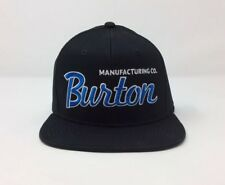 BURTON MANUFACTURING CO SNOWBOARDING MEN'S 6 PANEL EMBROIDERED BLACK CAP - NWT