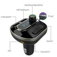 Auto Hands Free Bluetooth Wireless Car AUX Audio Receiver FM Adapter Charge V9Q9