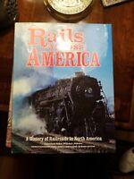 Rails Across America:A History of Railroads in North America,Wm Withuhn (HC/DJ)
