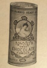 Lowney's Chocolate Powder Cookbook Illustrated 1907 Advertising Scarce Book