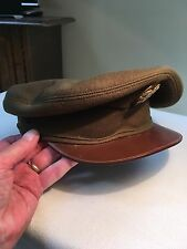 Vintage WWII Army Green Military Visor Cap.